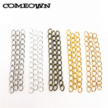 COMEOWN 100pcs 4x50mm Extended Extension Chains 6 Colors Tail Extender for Jewelry Making Findings Necklace Bracelet Chain(China)