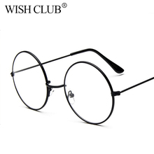 2017 Fashion Classic Retro Round Women Clear Lens Glasses Oversize Men Nerd Reading Glasses Large Flat Eyeglasses oculos mujer