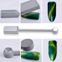 1PC 2 Way Strong Effect Magnet Slice Stick 3D Tips Magnetic UV Gel Cat Eye Polish Gradient Rod Design DIY Manicure Nail Art Tool(China)