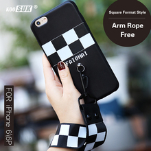 i6 6P Arm Rope Phone Case For iphone 6s 6 Plus Fashion Format Style Back Cover For iphone6 6plus TPU Soft Protection Shell Coque(China)