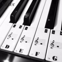 Piano Keyboard 61Keys Electronic Keyboard 88Keys Stickers Music Decal Label Note Learn Biginners Kid(China)