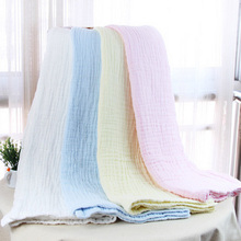 high quality !!Spring and Summer Baby Bath Towel Baby Towel Six Layers Gauze Towel TRQ1251(China)