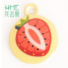 New Strawberry Enamel Metal Alloy Fruit Charm Pendant,for DIY Earring Bracelet Necklace Jewelry Findings Craft Making