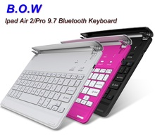 B.O.W Slim Bluetooth Wireless Keyboard Case Tablet PC Keyboard Case ,Long Battery Life,silica gel protection anti-clip(China)