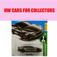Toy cars 2016 New Hot Wheels 1:64 dark gray tesla model s car Models Metal Diecast Car Collection Kids Toys Vehicle(China)