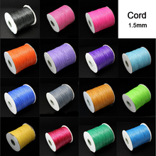 New 10 meters 1.5MM Waxed Leather Thread Wax Cotton Cord String Strap Necklace Rope Bead For shamballa Bracelet(China)