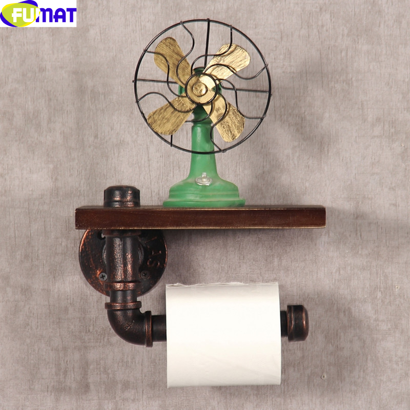 Creative Iron Wood Toilet Paper Holder Retro Toilet Roll Holder Restroom Bathroom Toilet Paper Box Vintage Toilet Holder <br><br>Aliexpress