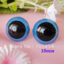SMALL SIZE 10mm blue color toy eye for animal toy plush bear doll accessories with washers/#K(China)