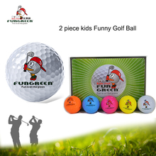 Golf Balls 12 pcs/lot Kids Crystal Outdoor Sport Game Training Match Competition Two pieces Rubber Golf Ball Sand Wind Tunnel(China)