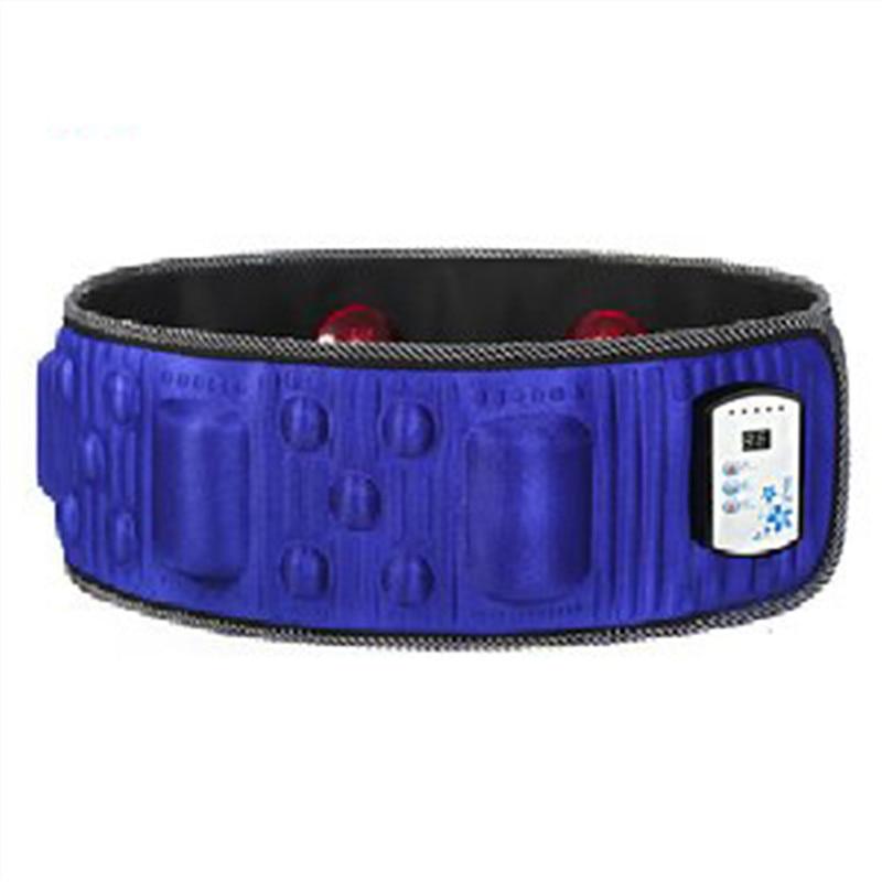 Best Quality Electric Vibration Infrared Sauna Waist Slimming Belt Fat Burning Heating Massage Vibrator Massager 18 Modes<br>