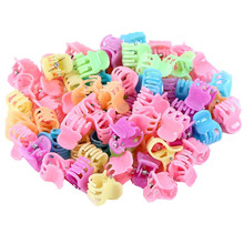 Hot Sale Hair Claws Promotion Fashion 50 Pcs/lot Cute Kids Baby Solid Accessories Princess Children Plastic Girls Clips(China)