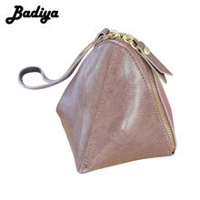 New Arrival Korean Cute Fashion Oil Leather Coin Purse Small Zipper Wristlet Wallet for Ladies Women(China)