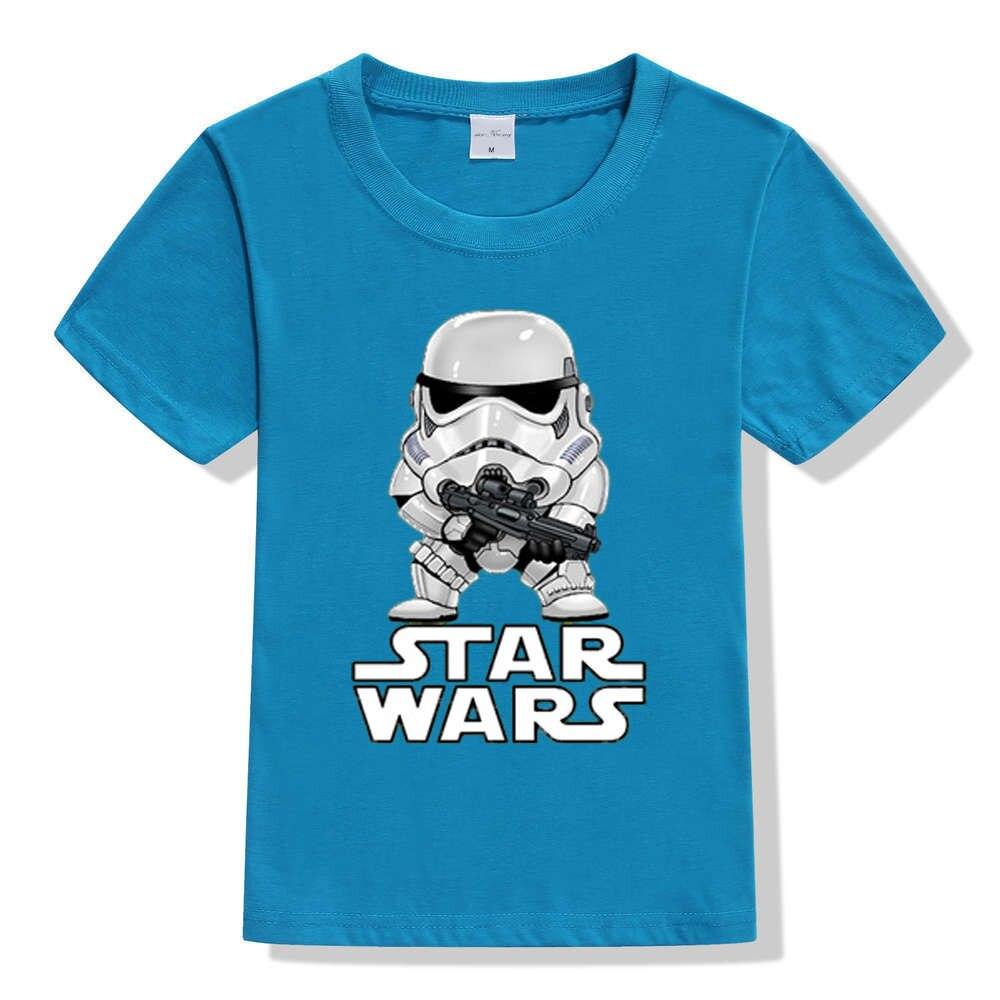 17 movies Star Wars children boys t shirt kids Star Wars Printed shirt kids clothes boys t-shirt top children clothing enfant 8