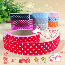 Free ship!1lot=20pc!Colorful Fabric Tape /Dot decorative cloth DIY tape for diary /Adhesive Tape