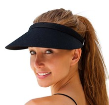 Unisex Clip-On Visor sun Hat Summer Cotton topless sports golf cap(China)