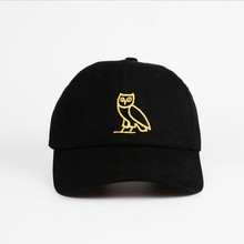 Embroidered owl Cotton Black Baseball Cap Solid Color white Caps Casquette Dad Hat for Women cotton cap summer snapback cap