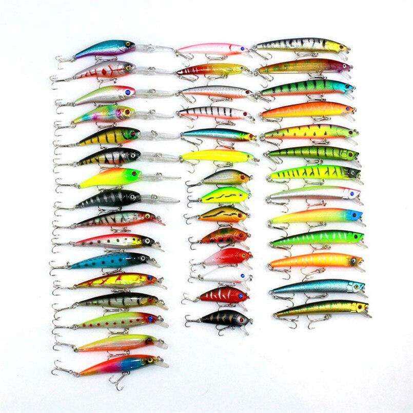 43pcs Fishing Lure Set Mixed 6 Models Fishing Tackle Mix Fishing Bait<br>
