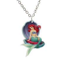 "[$5 Minimum]Fashion Girls Kids Gift Jewelry Cute Little Mermaid Pendant 16"" Short Chain Necklace Free shipping KS123"