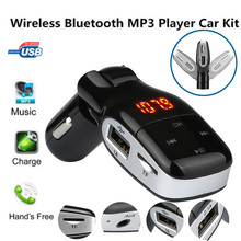 Handsfree Bluetooth Wireless Car Kit FM Transmitter Radio MP3 Player USB Charger Fashion auto parts @014(China)