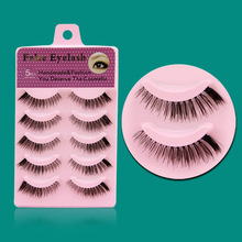 5Pairs Japan False Eyelashes Natural Cilios Posticos 100% Handmade Lash Extension Freeshipping F1
