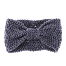 1 PCS Women Crochet Bow-Knot Turban Knitted Head Wrap Hairband Winter Ear Warmer Headband Hair Accessories(China)