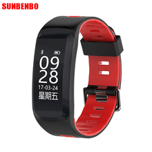 F4 Bluetooth Smart Band Heart Rate Monitor Smartband Fitness Tracker with GPS Deep Waterproof Smart Bracelet for Android IOS(China)