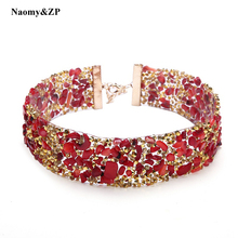 Buy Naomy&ZP Luxury Rhinestone Choker Crystal Maxi Statement Necklace 2017 Wedding Red Chokers Necklace Fashion Jewelry Accessory for $2.83 in AliExpress store