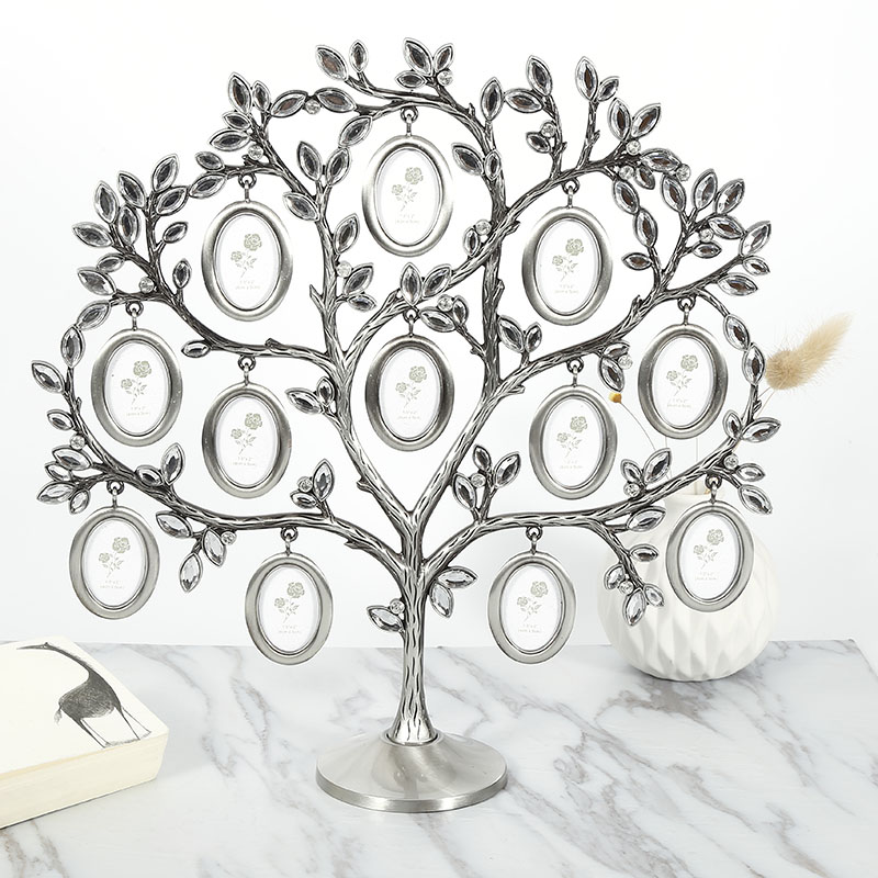 30*30cm Family Tree Hanging Photo Picture 12 Frame Holder Table Top Desk Display Decor Newest Creative Fashion<br>