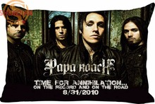 Hot Nice Music Papa Roach Rectangle Pillowcase zipper Wedding Custom Pillow Case For Bathroom A3.27#149