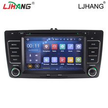 Andriod 5.1 2din auto radio car multimedia dvd player for Skoda Octavia 2013 Vehicle GPS BT RDS Radio stereo video can bus MAP