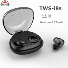 OKCSC Bluetooth Earphone Touch Wireless Sport Headset In Ear Portable Earpads with Power Storage for phone Samsung(China)