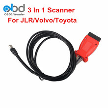 New Arrival Newest JLR SDD V142 + 2013D VIDA Dice For Volvo + V9.30.002 TIS Techstream For Toyota 3 In 1 Scanner Free Shipping(China)