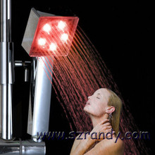 Water Flow Powered LED Hand Shower Head Colorful 2016 Wholesale New Arrival Abs Plastic Chrome Douche
