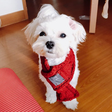Winter Dog Scarf Warm Scarves for Small Medium Dogs Puppy Bow Tie Dogs Collars Pet Products Accessories 11cy20S2(China)