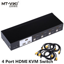 MT-VIKI Maituo New Design 4 Port Auto HDMI KVM Switch 1080P with USB Console Hothey switch MT-2104HL