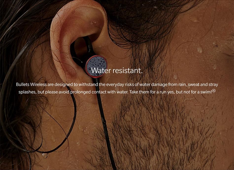 Original Oneplus Bullets Wireless Earphones aptX Neckband For Oneplus 6 Music Freedom Charging Stress Bluetooth Earbuds Earphone (6)