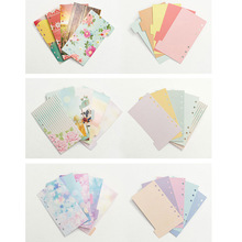 Lovedoki 2017 Flower Dividers Accessories for Dokibook Notebook Planner A5 A6 Inner Page 5pcs Per Set Filler Papers for Filofax(China)