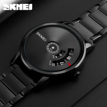 SKMEI New Style Rifle Color Fashion Men Quartz Watch Luxury Full Steel Band Waterproof Casual Men's Watches Relogio Masculino(China)