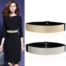 Sell Fashion Metal Waist Chain Belt  For Ladies Elastic Stretch Waist Band Corsetting Interlock Buckle Free Shipping Epacket
