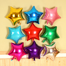 5 pcs/lot 18'' five-pointed star shaped foil Balloons Helium Metallic pure color balloons Wedding birthday party decoration(China)
