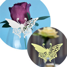 60PCS Laser Cut Butterfly Wedding Table Name Place Card Wine Glass Seat Card Party Wedding Invitations Favors and gifts Decor