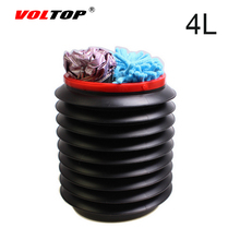 VOLTOP 4L Car Storage Box Auto Cleaning Supplies Wash Bucket Car Trunk Rear Racks Storage Box Finishing Boxes Filled With Water(China)