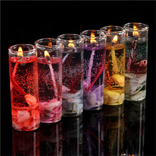 1Pcs Romantic Scented Candles Aromatherapy Smokeless Candles Ocean Shells Jelly Essential Oil Wedding Candles Color Random(China)