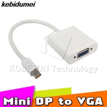 kebidumei kebidumei Brand New Port to VGA Adapter Mini Display for Macbook Pro Air DP to VGA Cable converter(China)
