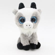 "Ty Beanie Boos Big Eyes 6"" 15cm Goat Plush Animal Stuffed Toys"