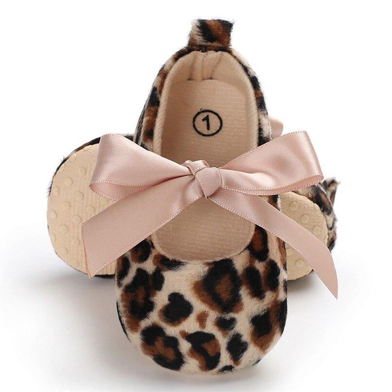 Toddler Cute Girl Leopard Print Tie Soft Newborn Anti-slip Baby Shoes First Walker A84L073 (5)