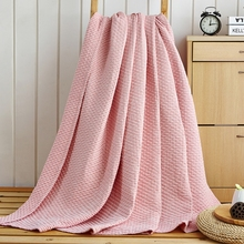 [Doremi] 100% Cotton Washing gauze Blanket brand/Throw Thread Blanket Towel Quilt  bedding set blanket on the bed