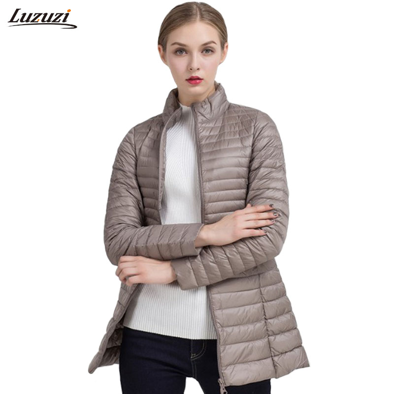1PC Thin Down Jacket Women Winter Coat Women Womens Down Jackets Long Coats Parka Chaquetas Mujer Jaqueta Feminina Inverno Z790Îäåæäà è àêñåññóàðû<br><br>