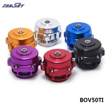TANSKY -Universal Jdm 50mm V Band Blow Off Valve BOV Q Typer w/ Weld On Aluminum Flange with logo TK-BOV50TI(China)