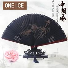 Japanese Fan Chinese Wind Craft Gift Japan All Bamboo Ancient Folding Hollow Small Handmade Full Wedding Home Decoration(China)